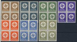 Lot Deutsches Reich Dienst Michel No. 166 - 170 , 174 , 175 ** postfrisch Viererblock