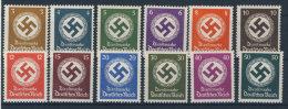 Deutsches Reich Dienst Michel No. 166 - 177 ** postfrisch