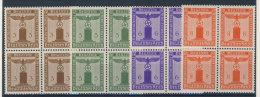 Lot Deutsches Reich Dienst Michel No. 156 , 158 , 159 , 160 ** postfrisch Viererblock