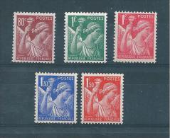 Francetimbres De 1939/41 Type Iris N°431 A 435  Neuf ** - Nuovi