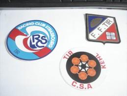 3 AUTOCOLLANTS TIR CLUB STRASBOURG 1970 - Other