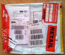 Plastic DHL Express Cover, Venezuela To Netherlands, 2015, Many Labels, Opened For Customs Control (folded, Creased) - Venezuela