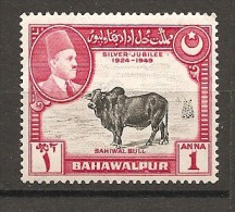 BAHAWALPUR - 1949  Bisonte 1v. Nuovo** MNH - Mucche