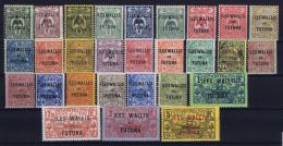 Wallis Et Futuna Yv Nr 1 - 25   MH/* Avec  Charnière - Neufs
