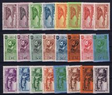 Gabon Yv Nr 125 - 146 MH/* Avec  Charnière  1932 - Unused Stamps