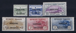 Indochine Yv 90 95  MH/* Avec  Charnière  Partialy Signed/ Signé  Orpelins - Ungebraucht