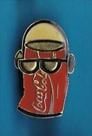 PIN´S //  ** COCA COLA ** CANETTE ** LUNETTES DE SOLEIL ** & BALLADEUR ** - Coca-Cola
