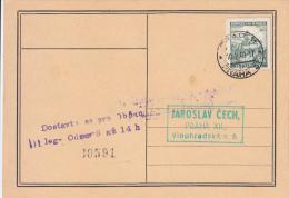 Böhmen Und Mähren Ganzsache Stationary Entier Praha 1940 - Bohême & Moravie