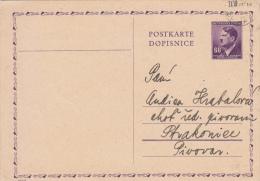 Böhmen Und Mähren Deutsche Reich Ganzsache Stationary Entier Praha 1944 - Bohême & Moravie