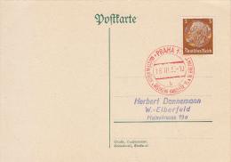 Böhmen Und Mähren Deutsches Reich Ganzsache Stationary Entier Praha 1938 - Bohême & Moravie