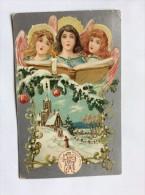 AK  WEIHNACHTEN   CHRISTMAS     ANGEL   ENGEL    LITHO       1912. - Weihnachten