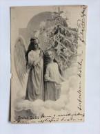 AK  WEIHNACHTEN   CHRISTMAS     ANGEL   ENGEL    1905. - Weihnachten