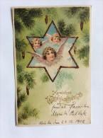 AK  WEIHNACHTEN   CHRISTMAS     ANGEL   ENGEL    1902. LITHO - Weihnachten