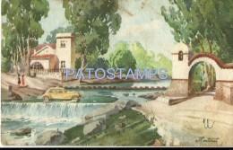 17296 ARGENTINA CORDOBA ART MARTINET AGUA DE ORO EL VADO YEAR 1951 BREAK POSTAL POSTCARD - Argentinien