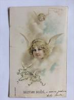 AK   WEIHNACHTEN   CHRISTMAS   ANGEL  ENGEL  ANGELS       LITHO   1906 - Weihnachten