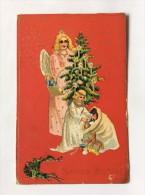 AK   WEIHNACHTEN   CHRISTMAS   ANGEL  ENGEL  ANGELS   EMBOSSED    LITHO   1906 - Weihnachten