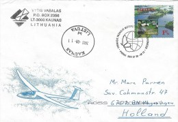 Lithuania 2001 Kaunas EUROPA Lake Park Special Cancellation Cover - Litouwen
