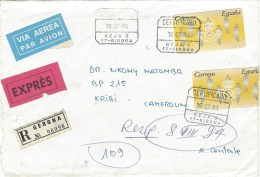 Spain 1994 Girona EMA Registered Express Cover - Marcofilie - EMA (Print Machine)