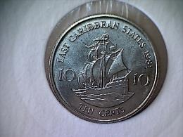 Caraibes De L´Est  25 Cents 1965 - Caraibi Orientali (Stati Dei)