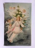 AK   WEIHNACHTEN   CHRISTMAS      ENGEL  ANGEL   LITHO    1905 - Weihnachten