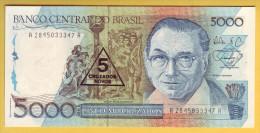 BRESIL - Billet De 5 Cruzados Novos Sur 5000 Cruzados. (1989). Pick: 217a. NEUF - Brazil
