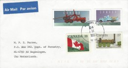 Canada 1997 Sicamous Forestry Logging Truck Delivery Truck Samson Steamloc Train Flag Cover - Brieven En Documenten