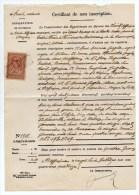 1894 - TIMBRE FISCAL Sur CERTIFICAT DE NON INSCRITPION De SAINT AFFRIQUE (AVEYRON) - Fiscaux