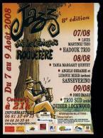 Ticket Concert Festival De Jazz De Roquefère (Aude) Août 2008 - Tickets De Concerts