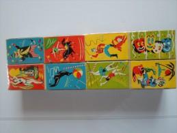LOT DE 16 PETITES BOITES D ALLUMETTES  THEME LE CIRQUE  SOUS EMBALLAGE D ORIGINE - Matchboxes