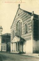 Temples  Négrepelisse (T. Et G.) Temple Protestant Carton Format Cpa - Eglises Et Cathédrales