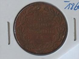 MEDAILLE DER NATIONAL OECONOM Berliner Commerz & Disconto-Bank 1877 - Professionnels/De Société