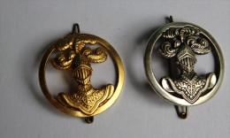 2 Insignes Béret MILITARIA Arme Blindée De La Cavalerie Drago Et Coindroux - Armée De Terre