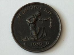 MEDAILLE IN EISERNER ZEIT 1916 GOLD GAB ICH ZUR WEHR EISEN NACH ICH ZUR EHR - Allemagne