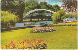 SUSPENSION BRIDGE, RIVER GREAT OUSE, BEDFORD, BEDFORDSHIRE. UNPOSTED - Bedford