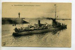 MARINE 664  Le Contre Torpilleur ETENDARD Marins Sur Le Pont Port 1910 - Guerra