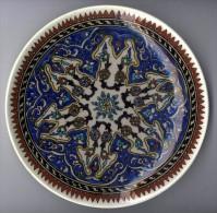 ASSIETTE MURALE CERAMIQUE  -  PEUT ETRE TURQUIE  -   TRES BEAU DECOR   ... - Art Oriental