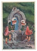 EN PARCOURANT LA BRETAGNE, LA FAOUET, FONTAINE SAINTE BARBE - Morbihan 56 - Illustrateur, Charles Homualk - Europe