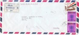 L-I/J 13 - IRAQ N° 342-377 Sur Lettre Recommandée Par Avion De Bagdad Pour La France - Iraq