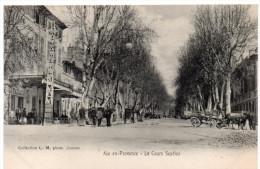AIX-en-PROVENCE -  Sur Le Cours Sextius -  Café Tabac -  Eclairage Public - Aix En Provence