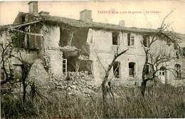 Belle    Carte  -   La Grande Guerre -   Parroy  ,aprés 4 Ans De Guerre ,le Château       P773 - Guerre 1914-18