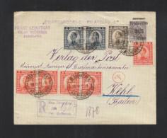 Yugoslavia Registered Stationery Cover Uprated 1922 To Germany - 1919-1929 Königreich Der Serben, Kroaten & Slowenen