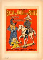 MERCKEL - Lithographie Originale -(imprimerie Chaix) Fin 19ème -Bazar Des Halles Et Des Postes - Jouets - Lithografieën