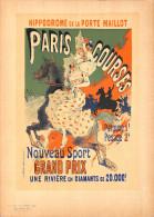 J-CHERET - Lithographie -(imprimerie Chaix) Fin 19ème - Hipodrome De La Porte Maillot - Paris Courses - Lithographies