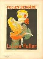J-CHERET - Lithographie -(imprimerie Chaix) Fin 19ème - FOLIES BERGERE - Litografia