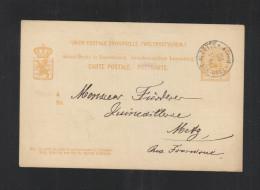 Luxemburg GSK 1882 Esch Sur Alzette Nach Metz - Ganzsachen