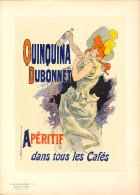 J-CHERET - Lithographie -(imprimerie Chaix) Fin 19ème -QUINQUINA DUBONNET -aperitif Dans Tous Les Cafés - Lithografieën