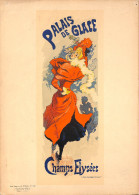 J-CHERET - Lithographie -(imprimerie Chaix) Fin 19ème - PALAIS DE GLACE -champs Elysées - Litografia