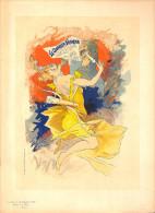 J-CHERET - Lithographie - 39,5x28 (imprimerie Chaix) Fin 19ème -Le Courrier Francais - - Lithografieën