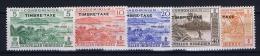 Nouvelles Hebrides  Yv Nr  Taxe 36 - 40 MH/* Avec  Charnière 1957 - Leyenda Francesa