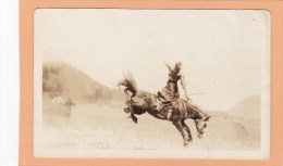 Rodeo, Stanley Manson, Saddle Bronc, Stampede  WILLIAMS LAKE, BC, CARIBOO, BRITISH COLUMBIA, Postcard, CANADA, Post Card - Other